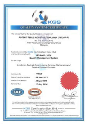 ISO Certificate 2015-2018